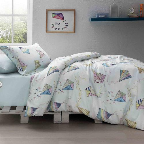 Детское постельное белье Tivolyo Home KITE хлопковый сатин делюкс 1,5 спальный, фото, фотография