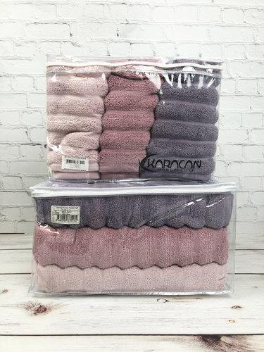 Набор полотенец для ванной 3 шт. Cestepe EZGI V4 70х140, фото, фотография