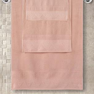 Полотенце для ванной Karna SIESTA хлопковая махра абрисоковый 40х60