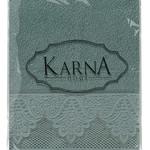 Полотенце для ванной Karna SIESTA хлопковая махра зелёный 70х140, фото, фотография