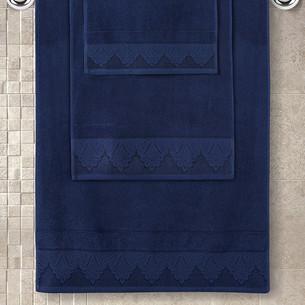 Полотенце для ванной Karna SIESTA хлопковая махра синий 50х90