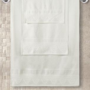 Полотенце для ванной Karna SIESTA хлопковая махра кремовый 50х90
