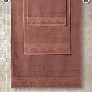 Полотенце для ванной Karna SIESTA хлопковая махра кирпичный 50х90