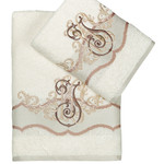 Подарочный набор полотенец для ванной 50х90, 70х140 Karna ADVEN хлопковая махра кремовый, фото, фотография