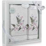 Подарочный набор полотенец для ванной 50х90, 70х140 Karna BONDI хлопковая махра V4, фото, фотография
