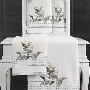 Подарочный набор полотенец для ванной 50х90, 70х140 Karna BONDI хлопковая махра V3