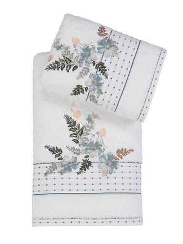 Подарочный набор полотенец для ванной 50х90, 70х140 Karna BONDI хлопковая махра V3, фото, фотография