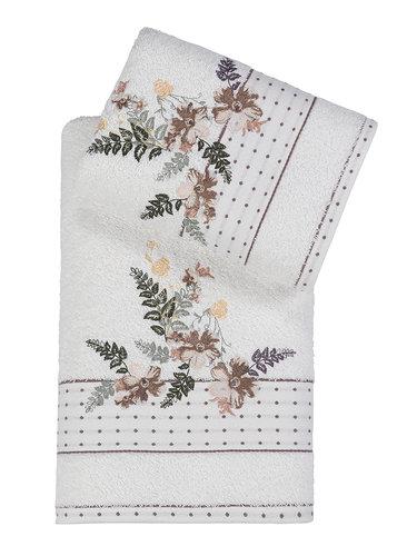 Подарочный набор полотенец для ванной 50х90, 70х140 Karna BONDI хлопковая махра V1, фото, фотография