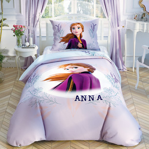 Детское постельное белье TAC FROZEN 2 DOUBLE COLOR ANNA хлопковый ранфорс 1,5 спальный
