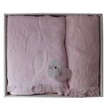 Набор полотенец для ванной в подарочной упаковке 2 пр. Pupilla AMAZON хлопковая махра светло-розовый, фото, фотография