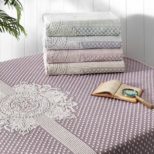 Махровая простынь-покрывало для укрывания Tivolyo Home HERMES хлопок фиолетовый 220х240