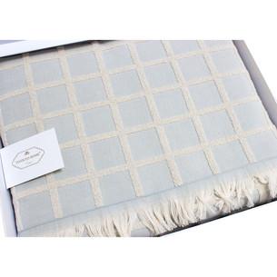 Махровая простынь-покрывало для укрывания Tivolyo Home CHANEL хлопок бирюзовый 220х240