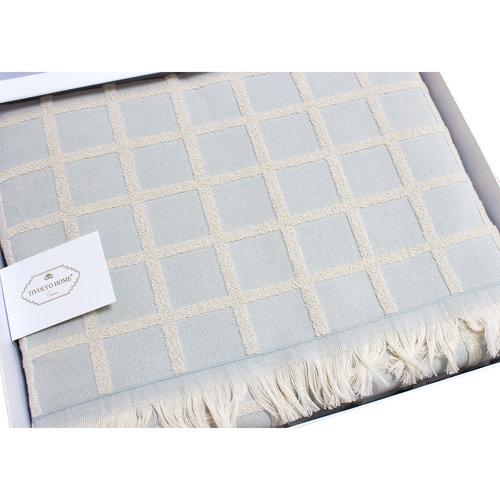 Махровая простынь-покрывало для укрывания Tivolyo Home CHANEL хлопок бирюзовый 220х240, фото, фотография