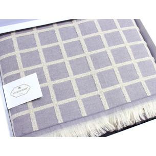 Махровая простынь-покрывало для укрывания Tivolyo Home CHANEL хлопок лиловый 160х220