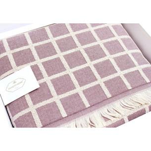 Махровая простынь-покрывало для укрывания Tivolyo Home CHANEL хлопок розовый 220х240
