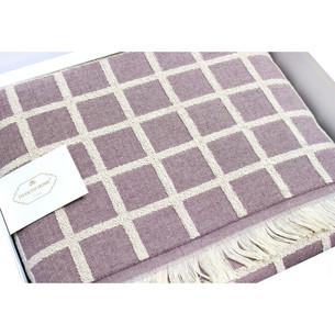 Махровая простынь-покрывало для укрывания Tivolyo Home CHANEL хлопок фиолетовый 160х220