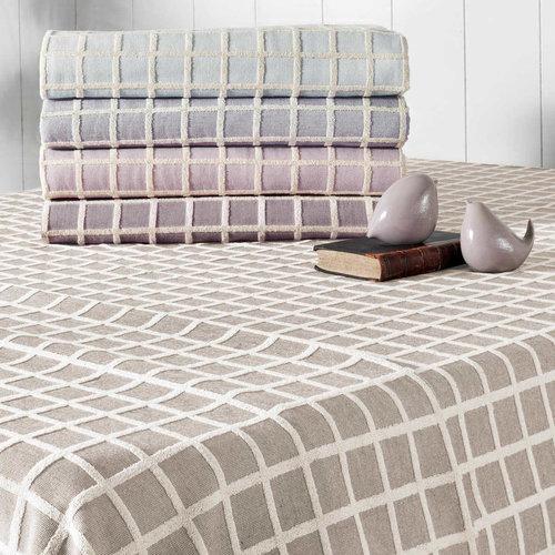Махровая простынь-покрывало для укрывания Tivolyo Home CHANEL хлопок фиолетовый 160х220, фото, фотография