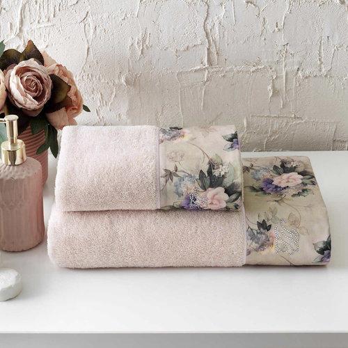 Подарочный набор полотенец для ванной 2 пр. Tivolyo Home BELISSA хлопковая махра, фото, фотография