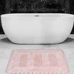Коврик для ванной Karna LENA вязаный хлопок розовый 50х70, фото, фотография
