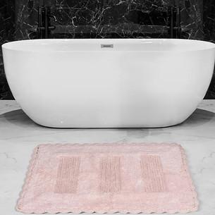Коврик для ванной Karna LENA вязаный хлопок розовый 60х100