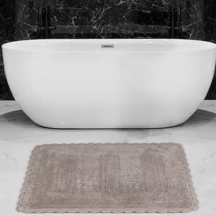 Коврик для ванной Karna LENA вязаный хлопок кофейный 50х70