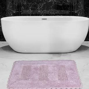 Коврик для ванной Karna LENA вязаный хлопок лавандовый 60х100