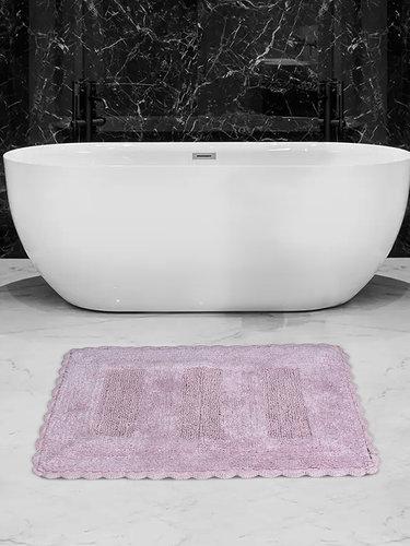 Коврик для ванной Karna LENA вязаный хлопок лавандовый 60х100, фото, фотография