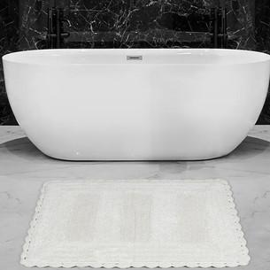 Коврик для ванной Karna LENA вязаный хлопок кремовый 60х100