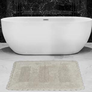 Коврик для ванной Karna LENA вязаный хлопок бежевый 60х100