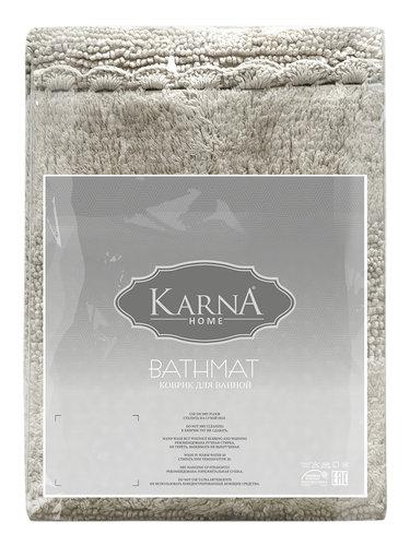 Коврик для ванной Karna LENA вязаный хлопок бежевый 50х70, фото, фотография