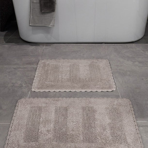 Набор ковриков для ванной Karna LENA вязаный хлопок 50х70, 60х100 кофейный