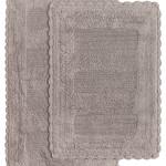 Набор ковриков для ванной Karna LENA вязаный хлопок 50х70, 60х100 кофейный, фото, фотография