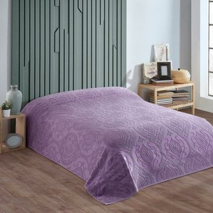 Махровая простынь для укрывания Efor CORNELY хлопок фиолетовый 160х220