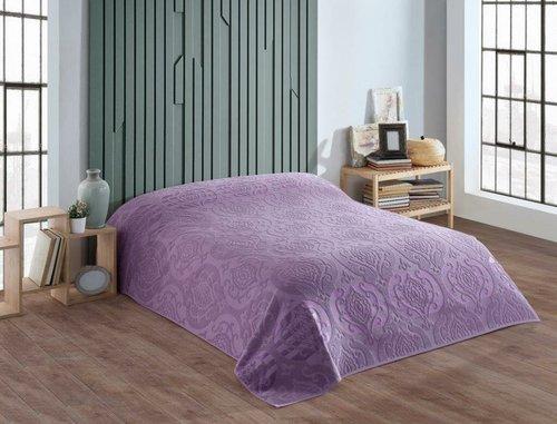 Махровая простынь для укрывания Efor CORNELY хлопок фиолетовый 160х220, фото, фотография