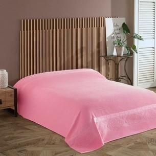 Махровая простынь для укрывания Efor LIVELY хлопок розовый 160х220