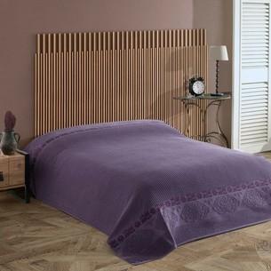 Махровая простынь для укрывания Efor LIVELY хлопок фиолетовый 160х220