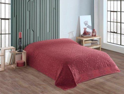 Махровая простынь для укрывания Efor LOVELY хлопок бордовый 200х220, фото, фотография