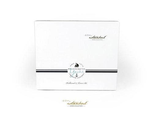 Постельное белье Istanbul Home Collection MARINE MALDIVS хлопковый ранфорс евро, фото, фотография