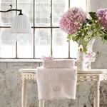 Подарочный набор полотенец для ванной 2 пр. Tivolyo Home ANTOINETTE хлопковая махра розовый, фото, фотография