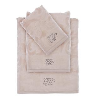 Подарочный набор полотенец для ванной 2 пр. Tivolyo Home BAROC хлопковая махра бежевый