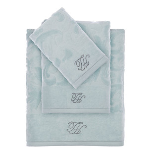 Подарочный набор полотенец для ванной 3 пр. Tivolyo Home BAROC хлопковая махра бирюзовый
