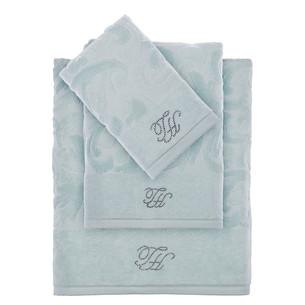 Подарочный набор полотенец для ванной 2 пр. Tivolyo Home BAROC хлопковая махра бирюзовый