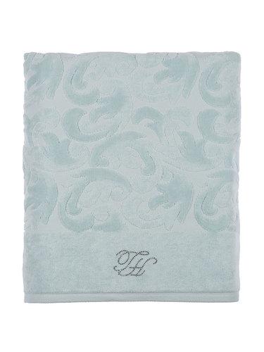 Подарочный набор полотенец для ванной 2 пр. Tivolyo Home BAROC хлопковая махра бирюзовый, фото, фотография