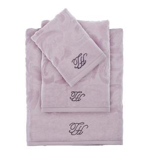 Подарочный набор полотенец для ванной 2 пр. Tivolyo Home BAROC хлопковая махра лиловый