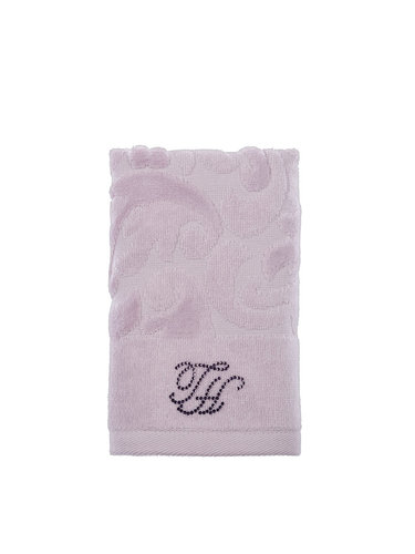 Подарочный набор полотенец для ванной 2 пр. Tivolyo Home BAROC хлопковая махра лиловый, фото, фотография