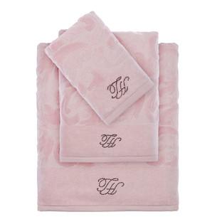 Подарочный набор полотенец для ванной 2 пр. Tivolyo Home BAROC хлопковая махра розовый