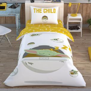 Детское постельное белье TAC STAR WARS THE CHILD хлопковый ранфорс 1,5 спальный