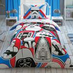 Детское постельное белье TAC STAR WARS GALACTIC MISSION хлопковый ранфорс 1,5 спальный, фото, фотография