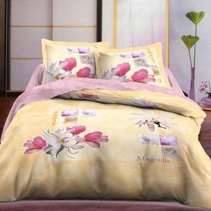 Постельное белье Le Vele MAGNOLIA хлопковый сатин делюкс персиковый евро