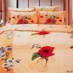 Постельное белье Le Vele DAISY хлопковый сатин делюкс персиковый евро, фото, фотография